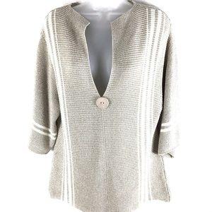 Orvis Tan & Cream Tunic Sweater